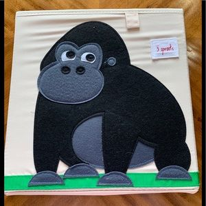 3 Sprouts Gorilla Toy Storage Cube